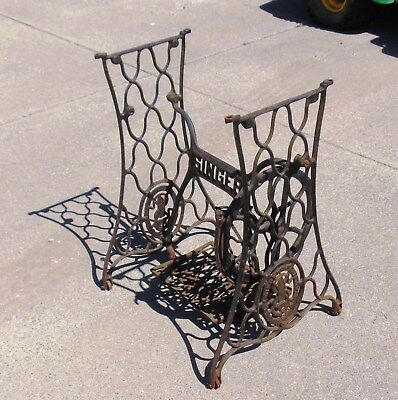 Singer Sewing Machine Cast Iron Treadle Base ~ Pick-up only ~ No shipping