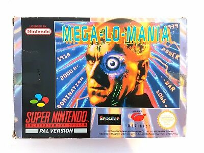 Super Nintendo SNES Mega Lo Mania ORIGINAL BOX ONLY NO GAME