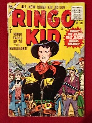 RINGO KID WESTERN #8 Late Golden Age Comic! VG Rare! NOT PRESSED NOR CLEANED!