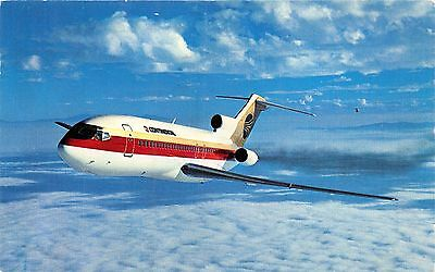 Continental Airlines Boeing Tri Jet~Postcard~Airport Mail Facility O'hare Pstmk