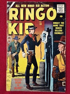 RINGO KID WESTERN #18 Early Silver Age Comic! VG Rare! NOT PRESSED NOR CLEANED!