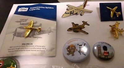 Collection of airline and aviation pins