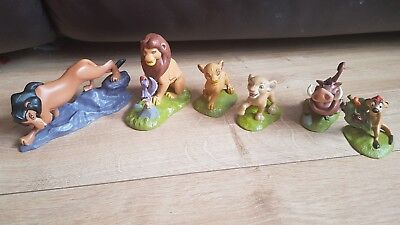 Disney Parks The Lion King 6pcs Simba Cake Toppers Figure Doll Set Kids Toy Gift
