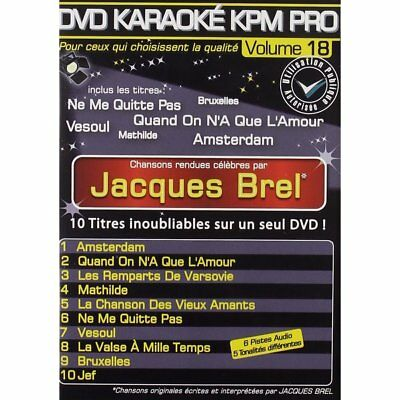 DVD - DVD Karaoké KPM Pro Vol. 18 ''Jacques Brel'' - Karaokee Production - Jacqu