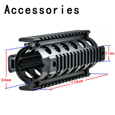 "Quad 20mm Rail Length 6.7"" Handguard Picatinny Aluminum Black Portable Tactical"