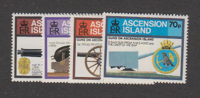 Ascension - 1985 Guns on Ascension Set. Sc. #368-71, SG#381-4. Mint NH