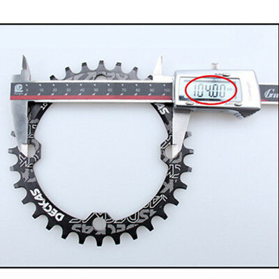Bike Narrow Wide Round Chainring Chain Ring BCD104mm 32T~38T Single Speed E8Y2V