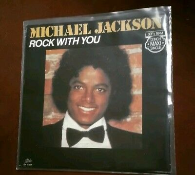 "michael jackson  Rock With You NL 12""Inch maxi singel vinly 1979Rare Original"