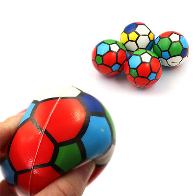 1PC Stress Relief Vent Ball Colorful Mini Football Squeeze Foam Ball Kids Toy SE
