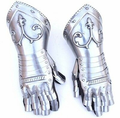 Dad's gift Medieval-Stainless-Steel-Hand-Gloves-Knight-Armor-SCA-LARP STRONG GRI