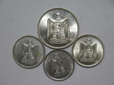 Egypt 20 10 5 Piastres Eagle With Shield Type Mixed World Coin Collection Lot