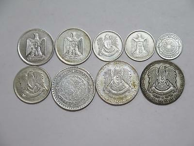 Syrian Arab Republic Middle East Piastres Wwii Silver World Coin Collection Lot