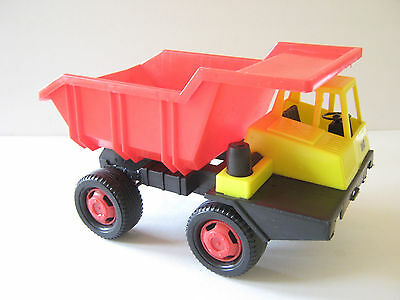 "Vintage ""Big"" Toy Tipper Truck 1970's West Germany Plastic Red/Yellow SandboxVGC"