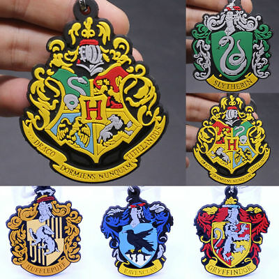 New Double sided Harry Potter Hogwarts School Soft Rubber Keychain Keyring
