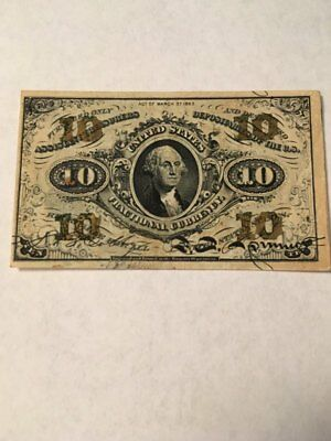 Fractional Currency 10 Cent Third Issue Fr 1255