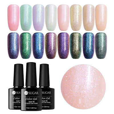 7.5ml UR SUGAR Mermaid Glitter Soak Off UV Gel Polish Nail Art Chameleon Varnish