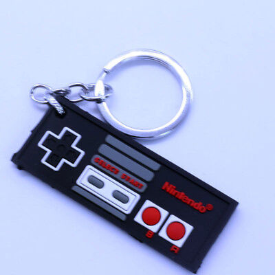 Double sided Nintendo Handle Controller Gamepad Soft Rubber Key chain Key ring