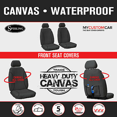 Ford Ranger PX Dual Cab 2011-On Front TRADIES Heavy Duty Canvas Seat Covers