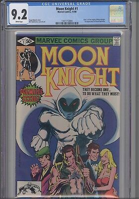 Moon Knight 1 CGC 9.2 1985 Marvel  Comic Origin Issue with a  NEW Frame