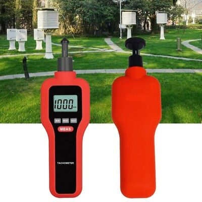 Handheld Non-contact &Contact Digital Tachometer Tach Rotate Speed Meter Tool