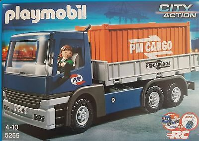 Playmobil 5255 Cargo-LKW mit Container RC-fähiger LKW City Action B-Ware