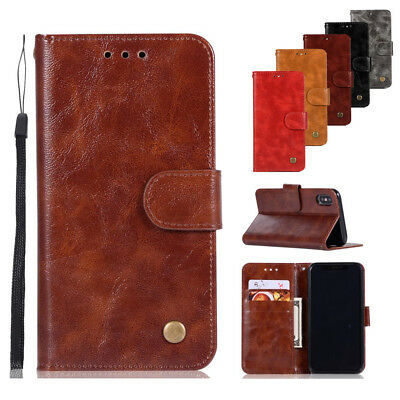 For iPhone 11 Pro Max 7 8 XR XS Max Magnetic Flip Case Leather Wallet Card Cover