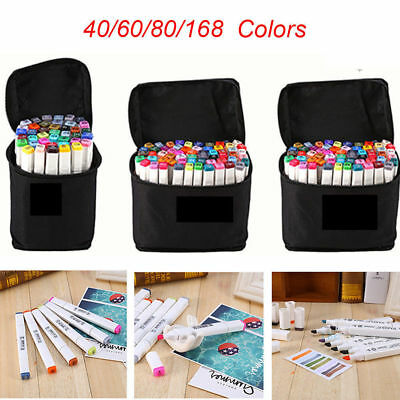 60/80/168 Color Dibujo Pintura Rotulador Base de Alcohol Touch Alcohol Twin Tip