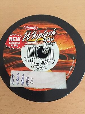 Berkley Whiplash blaze orange 0,15mm