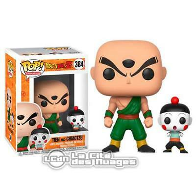 Dragon Ball Z POP! Animation Tien Shinhan & Chiaotzu Vinyl Fig 10cm n°384 FUNKO