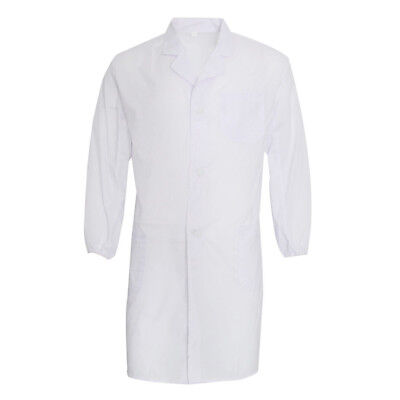 Unisex Lab White Scrubs, Long length coat to protect your clothing inside
