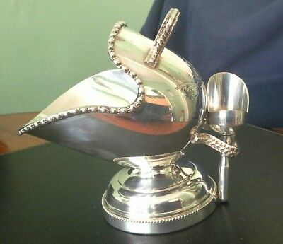 Silver Plated Coal Scuttle & Shovel SUGAR BOWL EPNS