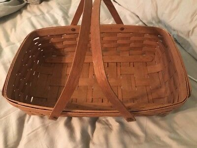 Longaberger Market Basket Large with Wood Handles 1988