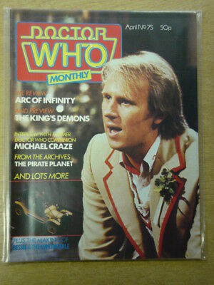 Doctor Who #75 1983 Apr British Weekly Monthly Magazine Dr Who Dalek Cybermen