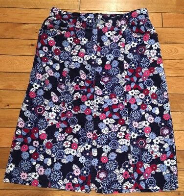 The Children's Place Stretch Floral Corduroy Cotton Blend Skirt Girls Size 12.