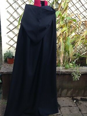 black cloak cape with hood (p46)