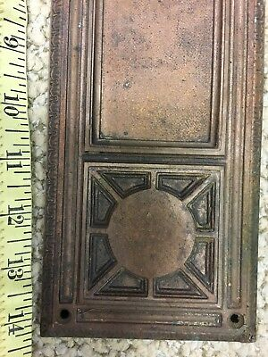 Vintage Bronze door plate, or name plate architectural salvaged hardware
