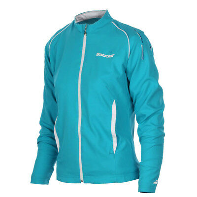 Women's Babolat Match Core Jacket - Turquoise Blue - Size Uk 10 **new**