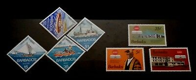 2 x Full Sets Barbados Stamps - Uni Of West Indies / Fishing Boats   - MNH