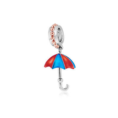 NEW Clogau Gold Silver & Rose Gold Umbrella Milestones Bead Charm £45 off!