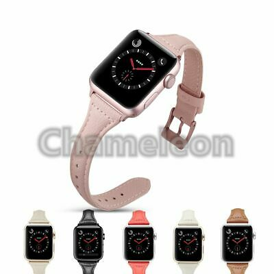 Genuine Leather Bracelet Strap Watch Band for Apple Watch Series 3 2 1 38mm 42mm