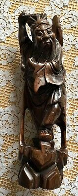 Oriental Carved Wooden Figure Of Old Man - Japanese / Chinese.?