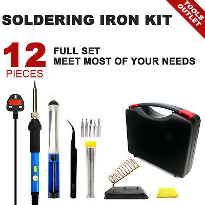 12-IN-1 60W soldering iron kit Electronics Welding With Box PERFECT KIT full set