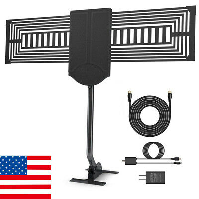 HDTV Antenna Outdoor TV Antenna 150 Mile Reception Rang with Signal Booster