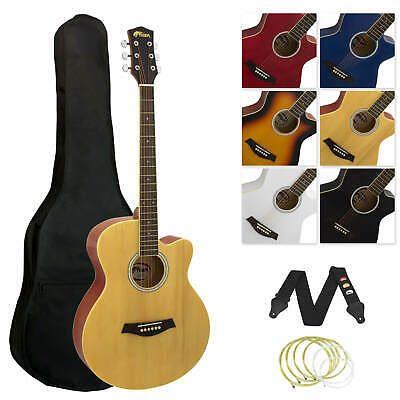 Tiger Full Size Beginners  Acoustic Guitar Pack, Bag, Strap & Strings - Natural