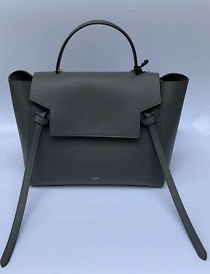 1cabec53c5 Celine Mini Belt Bag-Grey Grained Calfskin Excellent Pristine Condition