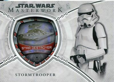 Star Wars Masterwork 2018 Vehicle Patch Chase Card MP-GES Star Destroyer - Stor