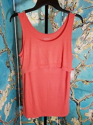 NWT Aglow Maternity Pop Over Nursing Tank, Size Medium, Retail $24.00