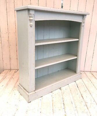 Vintage Solid Pine Rustic Farmhouse Shelving Shabby Chic Bookcase