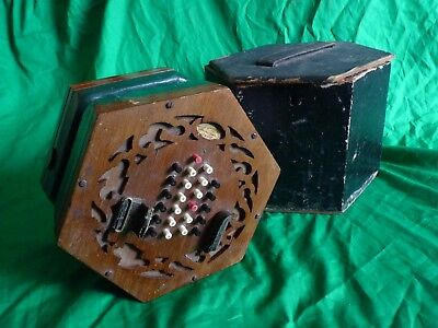 Louis Lachenal 48 key English Concertina no. 19930 in wooden case