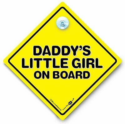Daddy's Little Girl On Board Car Sign, Baby On Board Sign, Child On Board Sign